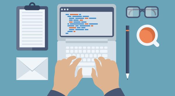Web and HTML programming flat illustration